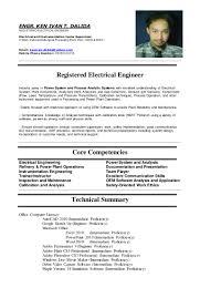 power plant electrical engineer resume sample ken ivan dalida resume 2014