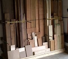 Rolling Wood Storage Rack Plans by Lumber Rack Youtube