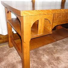 primitive antique mission oak desk work bench kitchen station
