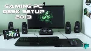 Xbox Gaming Desk by Gaming Pc Desk Setup 2013 Razer Style Youtube