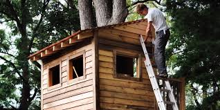 How To Build A Small Shed Step By Step by How To Build A Treehouse For Your Backyard Diy Tree House Plans
