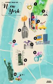 Map New York City by The Disney Map Of New York City Oh My Disney