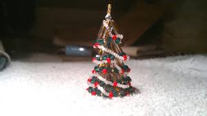 beading4perfectionists tiny 3d beaded christmas tree ornament