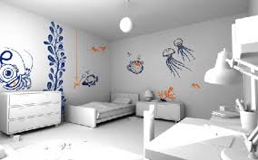 decorations white modern bedroom interior feature cool wall