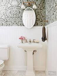 Small Powder Room Wallpaper Ideas Floral Royal Bathroom Wallpaper Ideas On Small White Modern