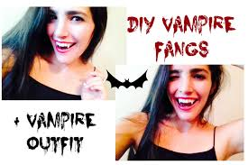 diy vampire teeth costume youtube