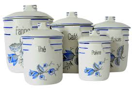 french cafe ceramic canisters s 5 omero home