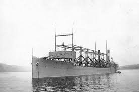 Photograph The USS Cyclops cargo ship  pictured here in the Hudson River in New Kids Britannica