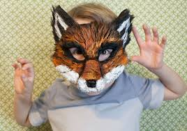 fox mask ash fox fantastic mr fox child mask nick wilde