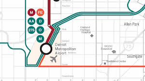 Map Of Detroit Metro Airport by Getting To Detroit Metro Airport Under Rta Transit Plan