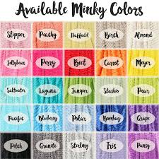minky blanket name only color combination with grey background