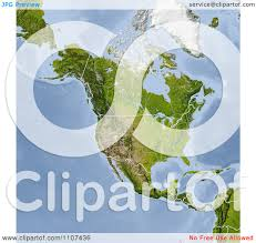 United States And Canada Map by Clipart Shaded Relief Map Of North America With United States And
