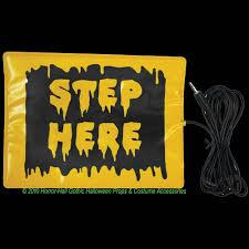 animatronic halloween props step here pad switch accessory activates animated animatronic