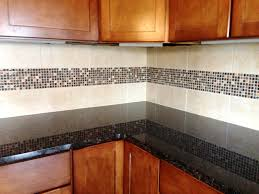 glass stone mosaic border compliments granite u0026 cabinetry our
