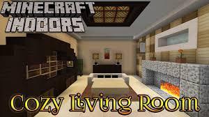 minecraft indoors interior design cozy living room youtube