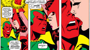 scarlet witch costume comics can scarlet witch and vision have the avengers stars weigh in