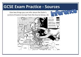 The Cold War Worksheets   KS   amp  KS  Lesson Plans  amp  Resources Stalin and Eastern Europe GCSE Inference Source Question  Subject  Cold War