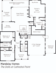 Mandalay Bay Floor Plan by Doe Tour Of Zero The Dells At Cathedral Point By Mandalay Homes