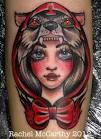 Woman With Head of Wolf Tattoo | Tattoomagz.com › Tattoo Designs ...