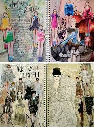 Textiles and Fashion Design Sketchbooks      Inspirational Examples Student Art Guide