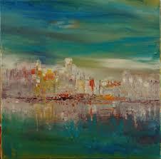 peinture de bord de mer tableau contemporain architecture sur toile upside art bord de