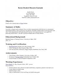 Nursing Student Sample Resume by Nursing Student Resume Examples