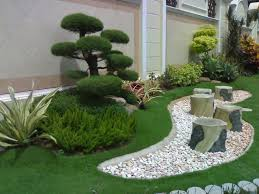 Architecture Modern Backyard Design Ideas With Stone Garden Chair - Contemporary backyard design ideas