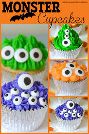 Halloween Cakes Easy by Monster Halloween Cupcakes