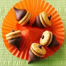 popular thanksgiving recipes acorn treats recipe taste of home