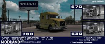 american volvo trucks volvo vnl truck shop v1 2 1 6 x mod for american truck simulator