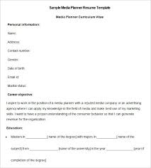 Resumes For Jobs Examples by Media Resume Template U2013 31 Free Samples Examples Format