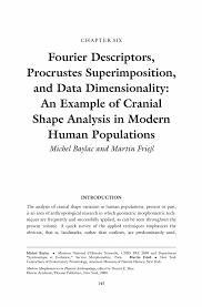 Fourier Descriptors  Procrustes Superimposition  and Data