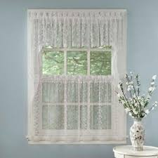 Elegant Kitchen Curtains by Elegant White Priscilla Lace Kitchen Curtains Tiers Tailored