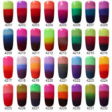 amazon com hnm thermal temperature color changing gel nail