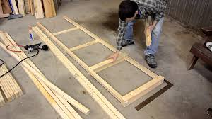 Building Wood Shelves For Storage by Building A Big Garage Shelf Youtube