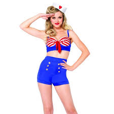 plus size burlesque halloween costumes on deck darling vintage style pin up sailor costume