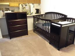 Convertible Crib Changer Combo solid wood crib and changing table creative ideas of baby cribs