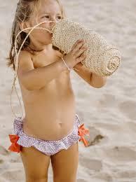 nina culetin 3 Miranda culetín elastico de niña rosa con globos azules para baño