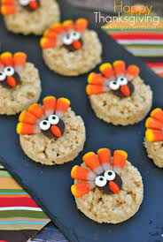 easy quick thanksgiving dessert recipes turkey rice krispie treats shugary sweets