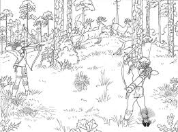 hunting coloring pages bow hunting coloring page free printable