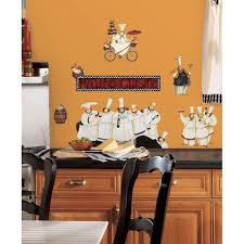 Kitchen Wall Pictures New Italian Fat Chefs Wall Decals Kitchen Chef Stickers Cooking