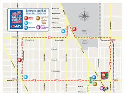 Chicago Line Map by Course Information And Map Chicago Cubs Race To Wrigley