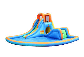 amazon com bounceland inflatable cascade water slide with pool