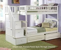 columbia staircase bunk bed white bedroom furniture beds