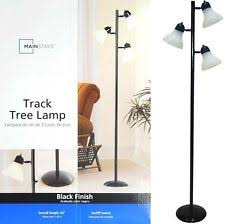 mainstays 64 u0027 u0027 track tree floor lamp black ebay