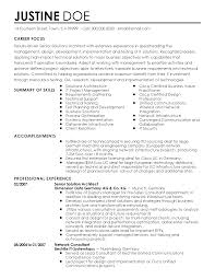 Resume Samples For Jobs In Usa by Professional Senior Solutions Architect Templates To Showcase Your