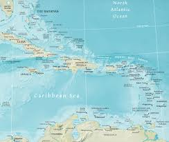 Map Of South America And Caribbean by Map Of The Caribbean Region