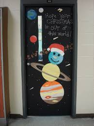 christmas door decorating contest and the science teacher took