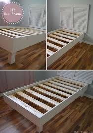 Build Your Own Platform Bed Base by Shutter Headboard Tutorial The D I Y Dreamer Bed Frames Lips