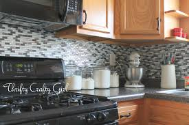 Kitchen Wallpaper Backsplash Thrifty Crafty Easy Kitchen Backsplash With Smart Tiles